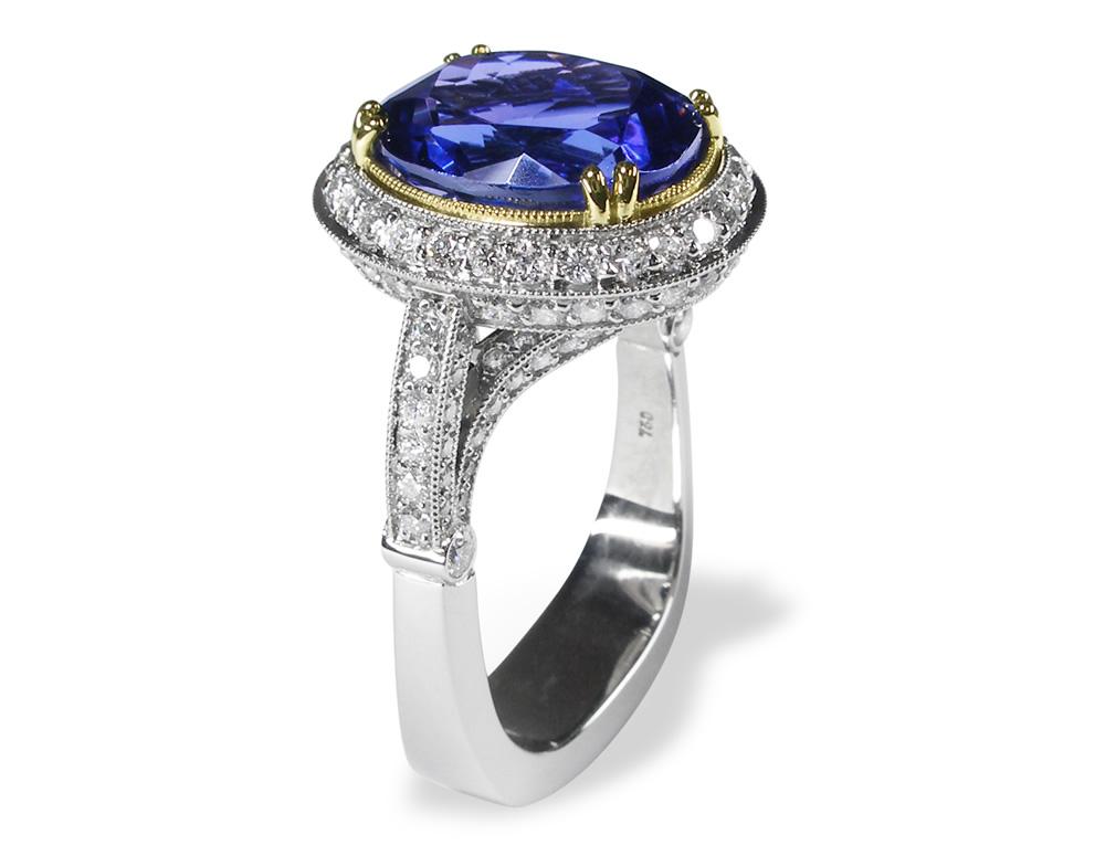 Sapphire Solitaire In Gold & Platinum