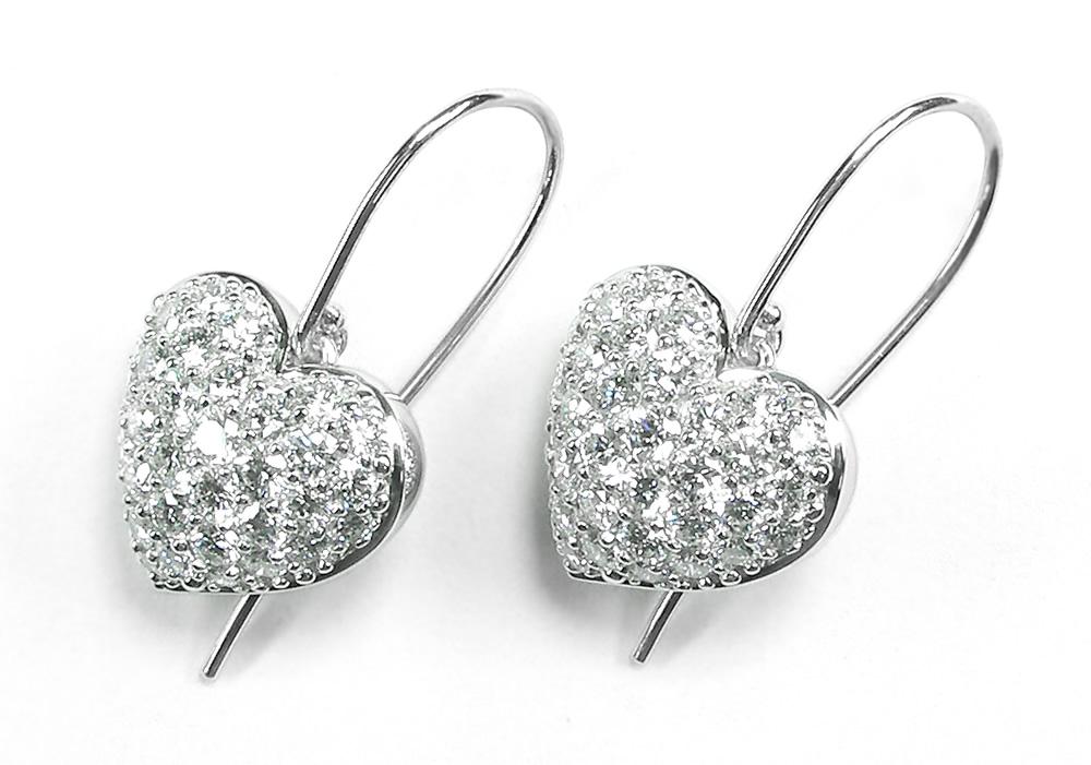 Pavé Diamond Heart Earrings