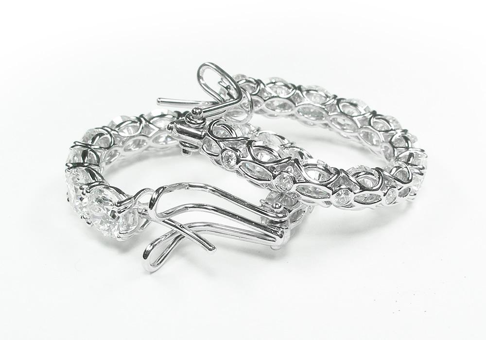 Eternity Hoop Earrings with Diamonds