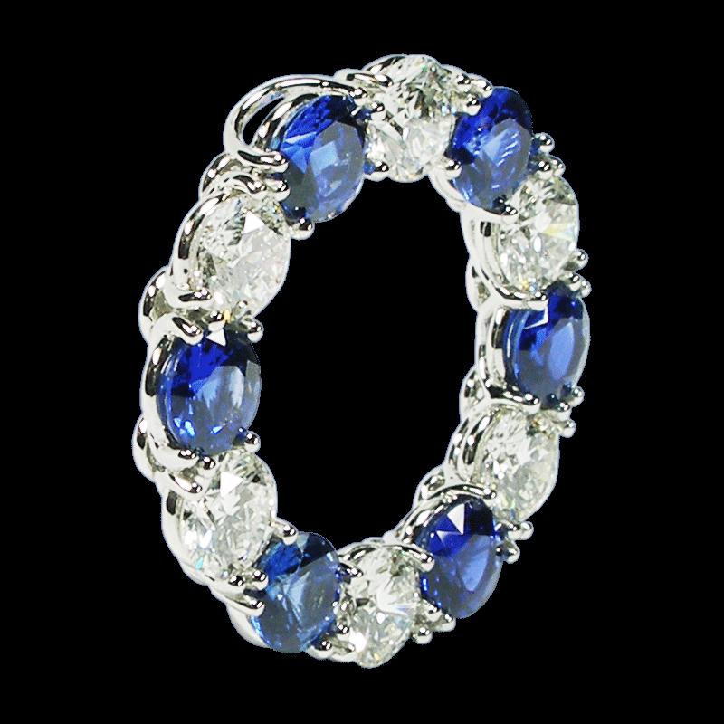 Diamond & Sapphire Eternity Pendant & Brooch