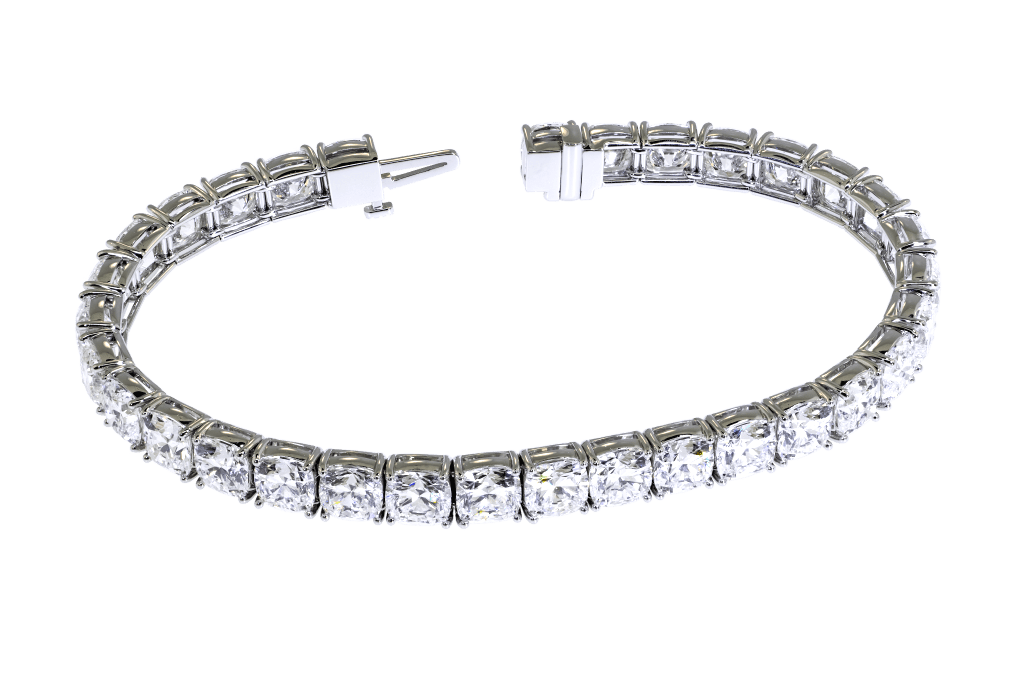 Cushion Cut Diamond Bracelet