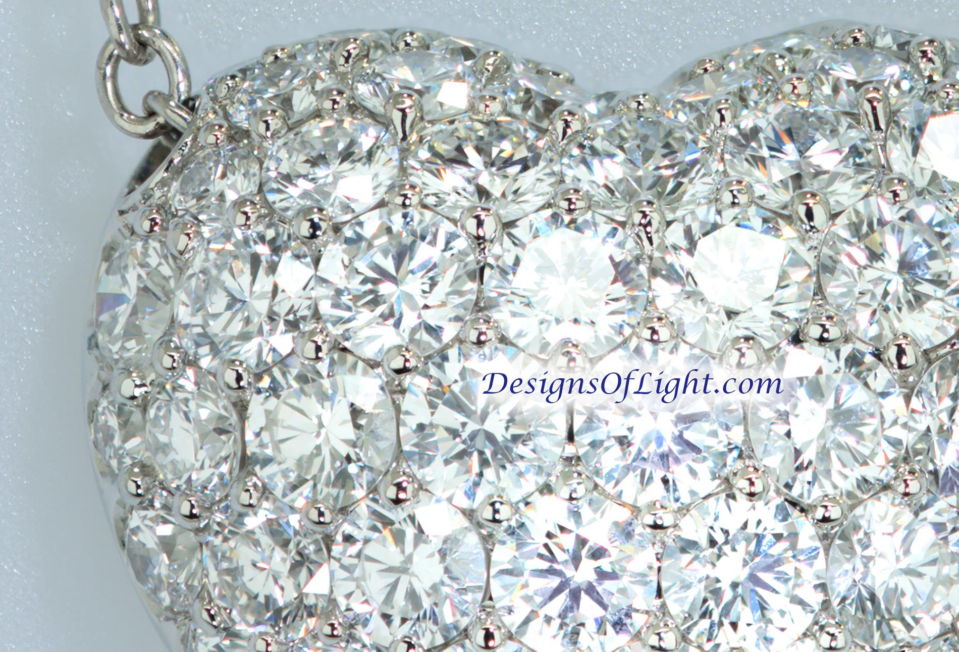 3ct Pavé Diamond Heart