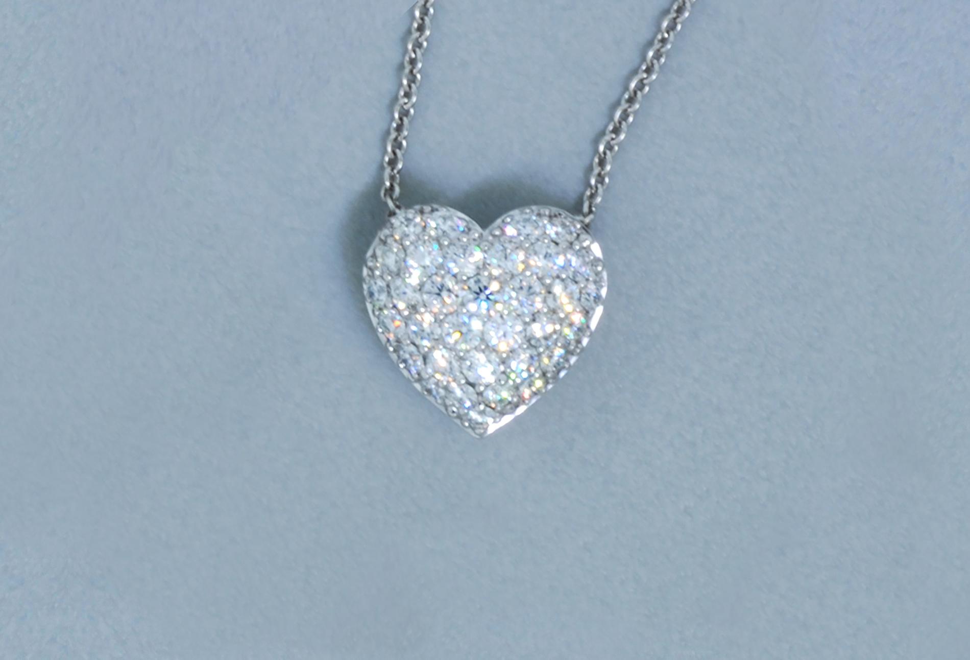 Half ct Pavé Diamond Heart