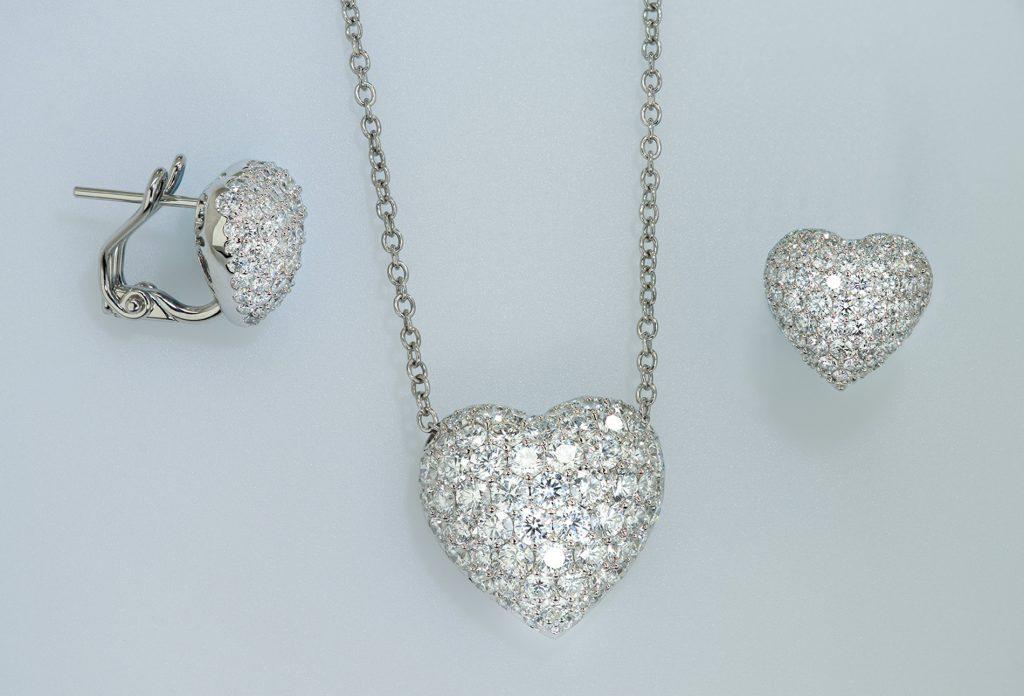 Pave Diamond Heart Set